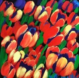 Obraz do salonu artysty Beata Murawska pod tytułem Czerwony pocałunek