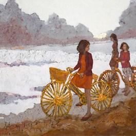 Obraz do salonu artysty Martta Węg pod tytułem Żółty rower