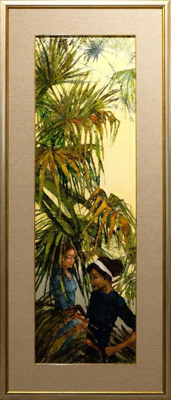 Obraz do salonu artysty Martta Węg pod tytułem Popołudnie pod palmami
