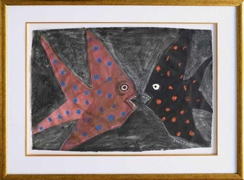 Obraz do salonu artysty Józef Wilkoń pod tytułem Ryby