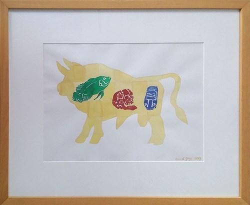 Obraz do salonu artysty Ryszard Grzyb pod tytułem Byk