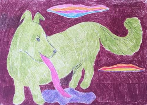 Obraz do salonu artysty Ryszard Grzyb pod tytułem Piesek Osesek