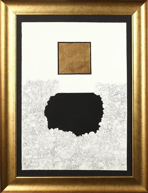 Obraz do salonu artysty Andrzej Strumiłło pod tytułem Morze czarne i złote słońce nad nim
