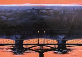 Obraz do salonu artysty Henryk Laskowski pod tytułem Pont des Arts