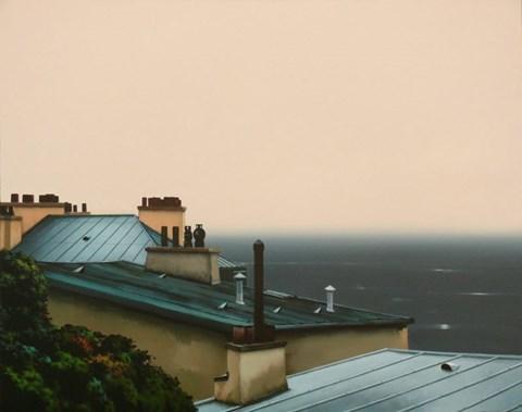 Obraz do salonu artysty Henryk Laskowski pod tytułem Dachy