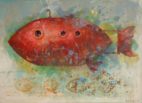 Obraz do salonu artysty Grzegorz Radziewicz pod tytułem Czerwony Baron