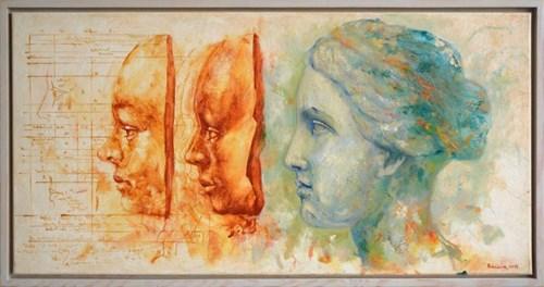 Obraz do salonu artysty Grzegorz Radziewicz pod tytułem Maski