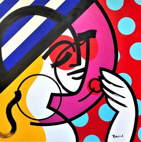 Obraz do salonu artysty Marcin Gregorczuk pod tytułem A Lady with a Hat