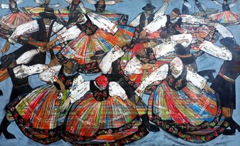 Obraz do salonu artysty Monika Ślósarczyk pod tytułem Łowiczanki