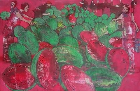 Obraz do salonu artysty Monika Ślósarczyk pod tytułem Arbuzy