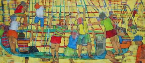 Obraz do salonu artysty Monika Ślósarczyk pod tytułem Plac zabaw