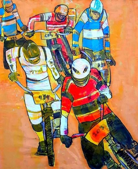 Obraz do salonu artysty Monika Ślósarczyk pod tytułem BMX