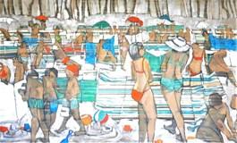 Obraz do salonu artysty Monika Ślósarczyk pod tytułem Plaża