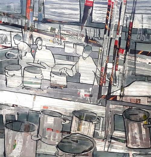 Obraz do salonu artysty Monika Ślósarczyk pod tytułem Kuchnia