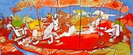 Obraz do salonu artysty Monika Ślósarczyk pod tytułem Karuzela pardubicka