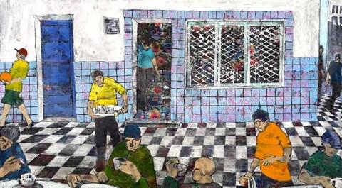 Obraz do salonu artysty Monika Ślósarczyk pod tytułem Cafe w Monastirze