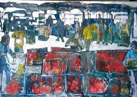 Obraz do salonu artysty Monika Ślósarczyk pod tytułem Targ