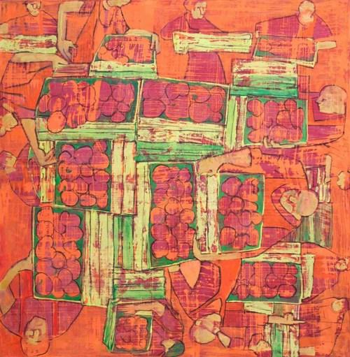 Obraz do salonu artysty Monika Ślósarczyk pod tytułem Brzoskwinie