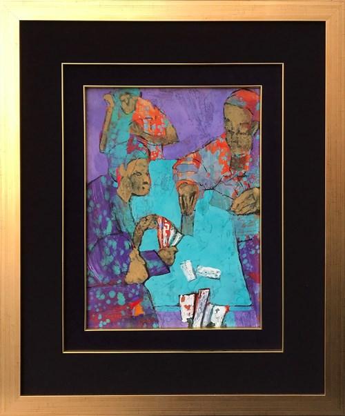 Obraz do salonu artysty Monika Ślósarczyk pod tytułem Gra w karty