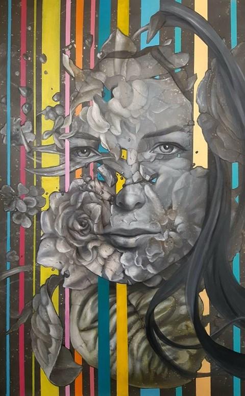 Obraz do salonu artysty Maciej Wierzbicki pod tytułem Interferencja 2