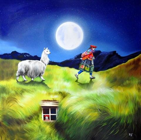 Obraz do salonu artysty Paulina Zalewska pod tytułem Trawa w pełni II