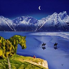 Living room painting by Paulina Zalewska titled The Last Giant