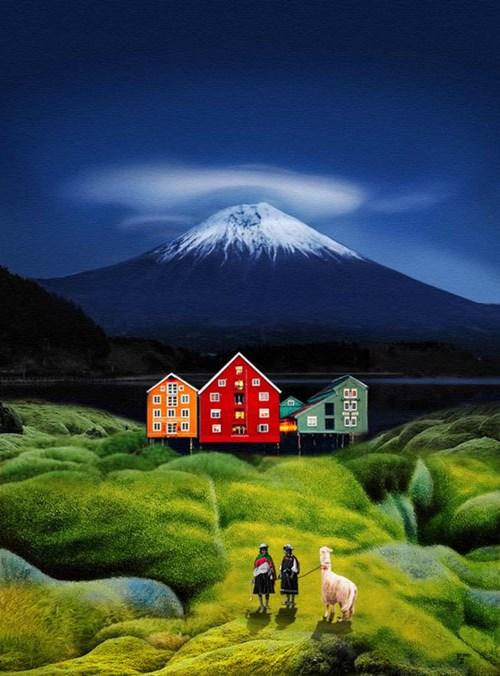 Obraz do salonu artysty Paulina Zalewska pod tytułem Góra Fudżi
