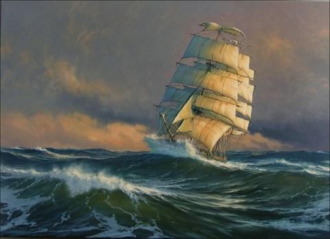 Obraz do salonu artysty Marek Rużyk pod tytułem Breaking waves