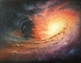 Obraz do salonu artysty Marek Rużyk pod tytułem Kosmiczny rejs