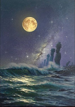 Obraz do salonu artysty Marek Rużyk pod tytułem Misterium nocy