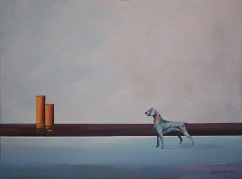 Obraz do salonu artysty Katarzyna Środowska pod tytułem Dwa żółte kominy