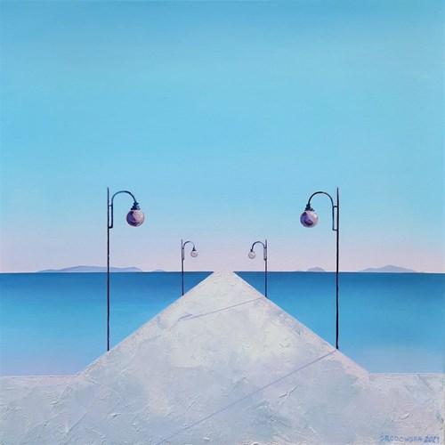 Obraz do salonu artysty Katarzyna Środowska pod tytułem Nadmorski spokój