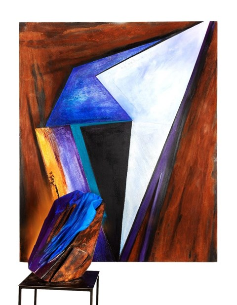 Obraz do salonu artysty Joanna Roszkowska pod tytułem Structure of Chaos