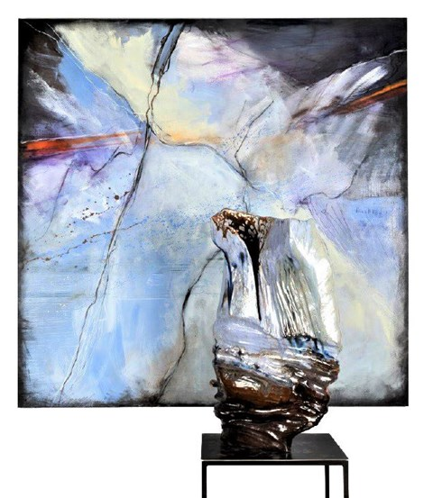 Obraz do salonu artysty Joanna Roszkowska pod tytułem Frozen Ray