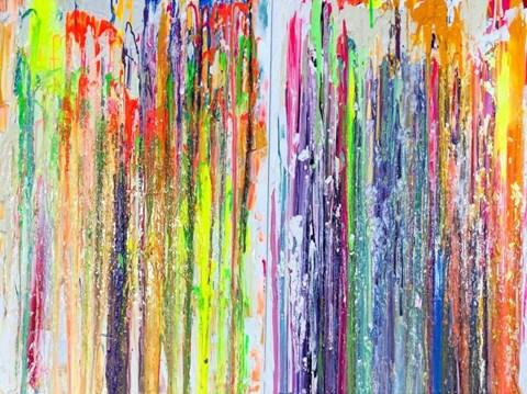 Obraz do salonu artysty Gossia Zielaskowska pod tytułem Iskrzenie (dyptyk)