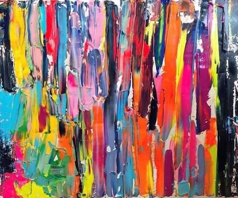 Obraz do salonu artysty Gossia Zielaskowska pod tytułem Violet HDIYL Nostalgic La Mer