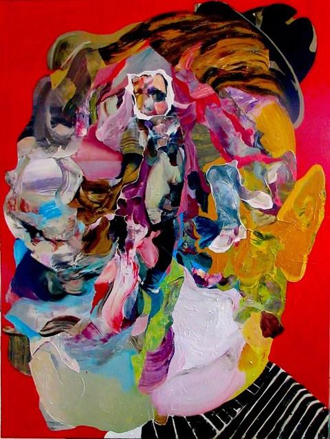 Obraz do salonu artysty Tomasz Tobolewski pod tytułem Głowa XI