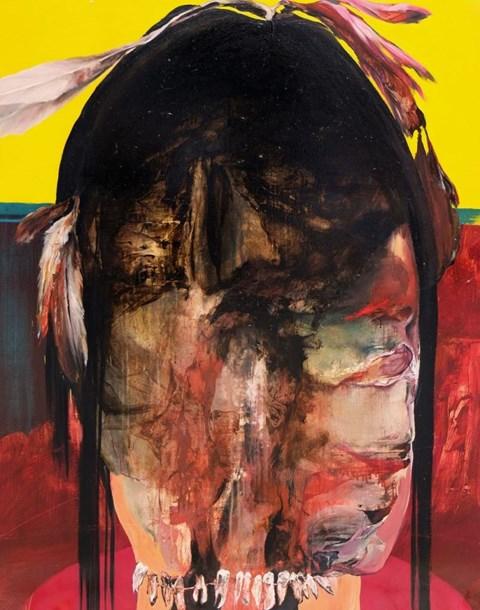 Obraz do salonu artysty Tomasz Tobolewski pod tytułem Apacz