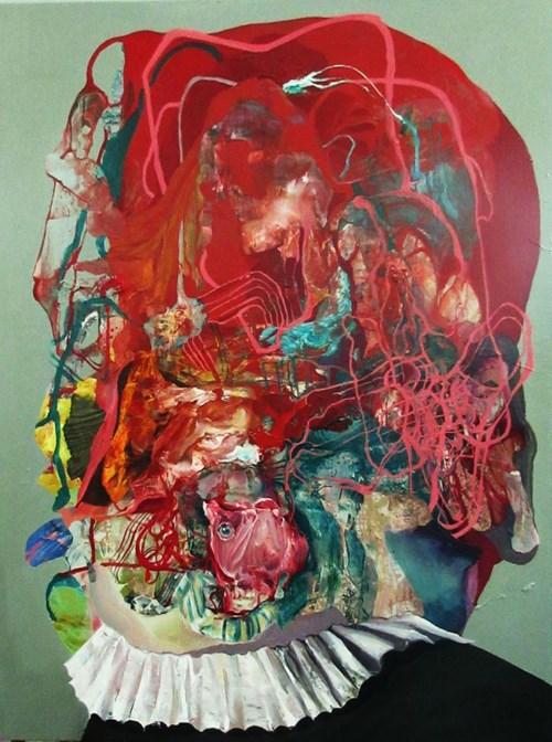 Obraz do salonu artysty Tomasz Tobolewski pod tytułem Głowa XII