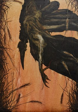 Obraz do salonu artysty Michał Jankowski pod tytułem Kruk w pszenicy