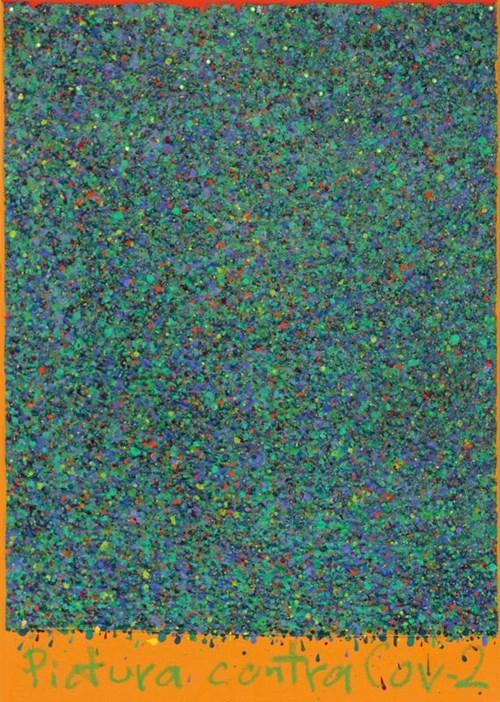 Obraz do salonu artysty Sławomir Marzec pod tytułem Obraz przeciwko Koronawirus