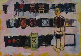 Obraz do salonu artysty Olek Myjak pod tytułem Kompozycja IV