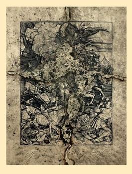Grafika do salonu artysty Andrzej Dudek-Dürer pod tytułem Spalona Apokalipsa ver III