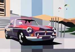 Living room painting by Jakub Napieraj titled MG and Desert Sky
