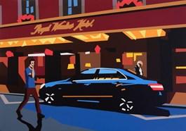 Living room painting by Jakub Napieraj titled Royal Windsor Hotel