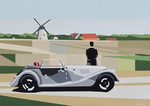 Obraz do salonu artysty Jakub Napieraj pod tytułem Weekend na wsi