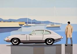 Obraz do salonu artysty Jakub Napieraj pod tytułem Błękitne wybrzeże