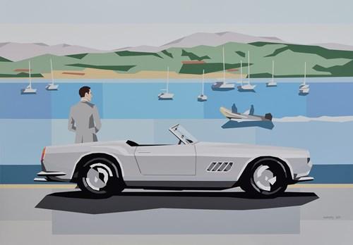 Obraz do salonu artysty Jakub Napieraj pod tytułem Ferrari na Riwierze