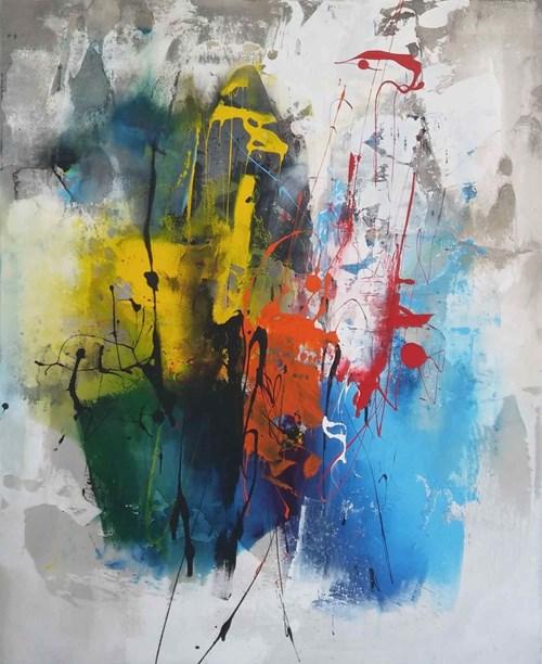 Obraz do salonu artysty Małgorzata Pabis pod tytułem Through the Curtain