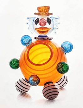 Rzeźba do salonu artysty Paweł Borowski pod tytułem Clown